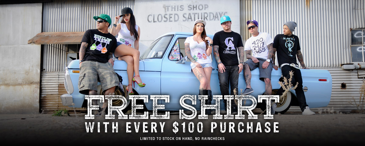 FREE Shirt with every $100 purchase
